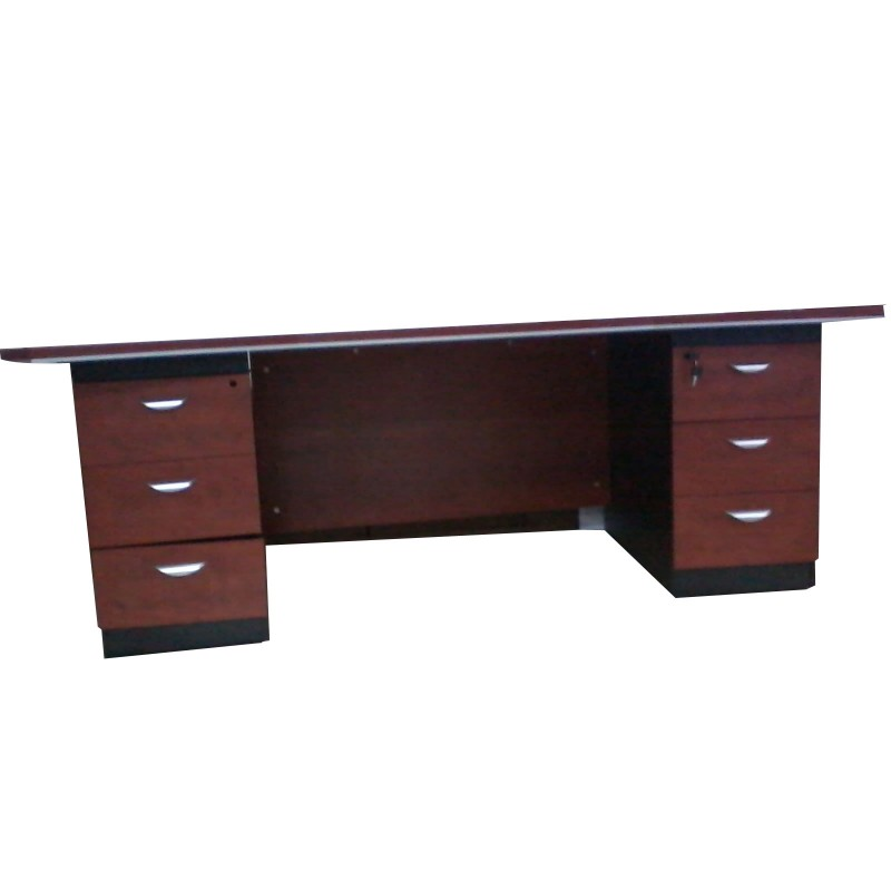 bureau avec 2 caissons 3t. Black Bedroom Furniture Sets. Home Design Ideas
