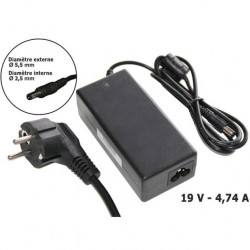 CHARGEUR 19V 4.74A (5.5mm-2.5mm)